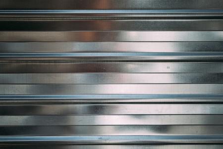 Polished shiny steel metal