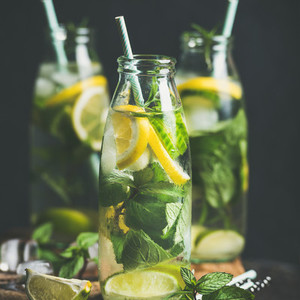 Citrus fruit and herbs infused sassi natural water square crop
