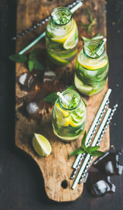 Citrus and herbs infused sassi water for detox dieting