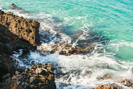 Natural rocks and clear waters at Kleopatra beach  Alanya  Turkey