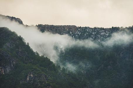 Green slopes of the Taurus mountains  Alanya  Turkey