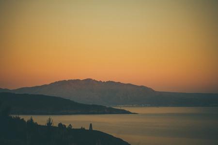 coastline and sunset