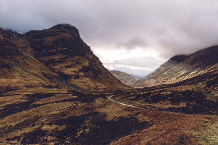 Glencoe mountains valley