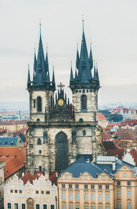View over Church of Our Lady Prague Chech Republic