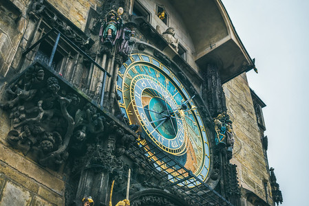 Medieval astronomical clock Prague Chech Republic