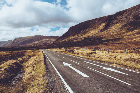 Open Road in Mountains