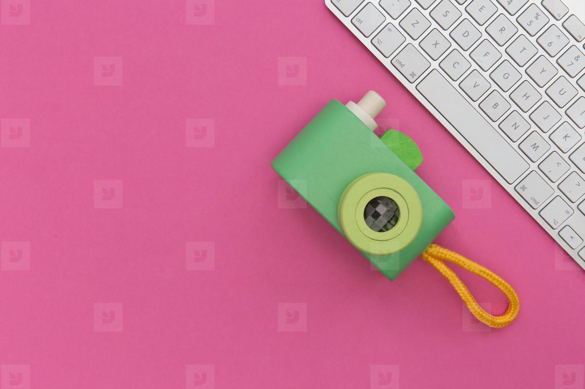 Camera   Keyboard Pink