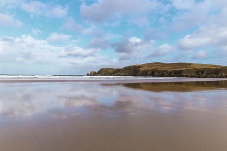 Sandy Beach Reflections
