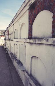 Row of Vaults in St  Louis Cemet