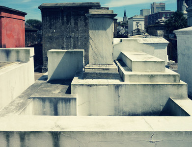 White Tombs St  Louis Cemetery