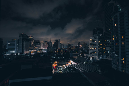 Dark  Asian Cityscape