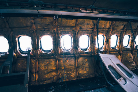Destroyed Airplane Windows