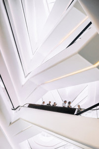 People on a modern escalator 1