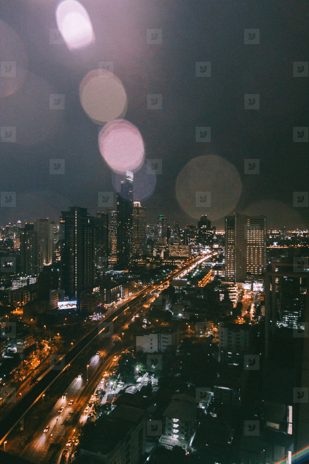 Bangkok city in night time