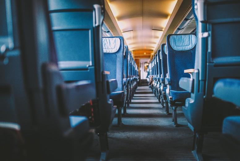 Inside of a empty train