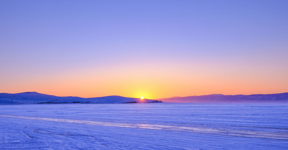 Sunset in Baikal Lake
