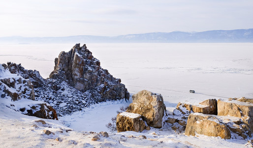 Shamanka rock in winter
