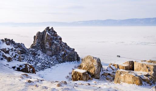 Shamanka rock in winter