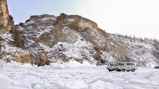 Rocks in Lake Baikal