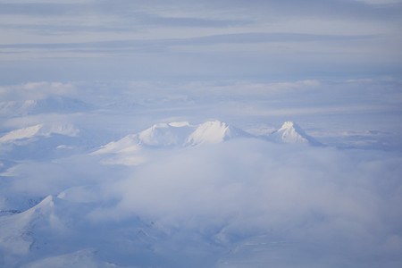 Aerial view Iceland mountain 01