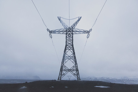 Power pole in Iceland 02