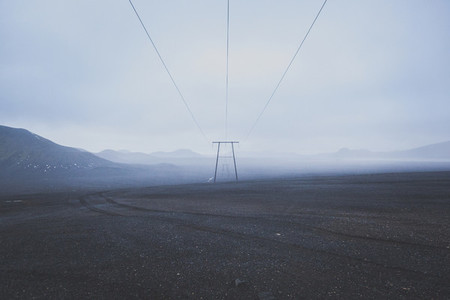 Power pole in Iceland 01