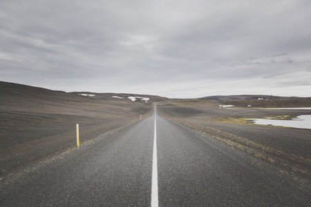 Iceland asphalt road
