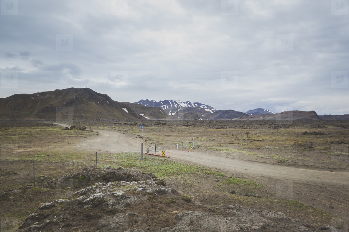 Gravel road in Iceland  04