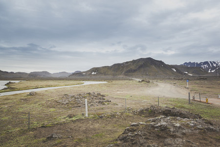 Gravel road in Iceland 03