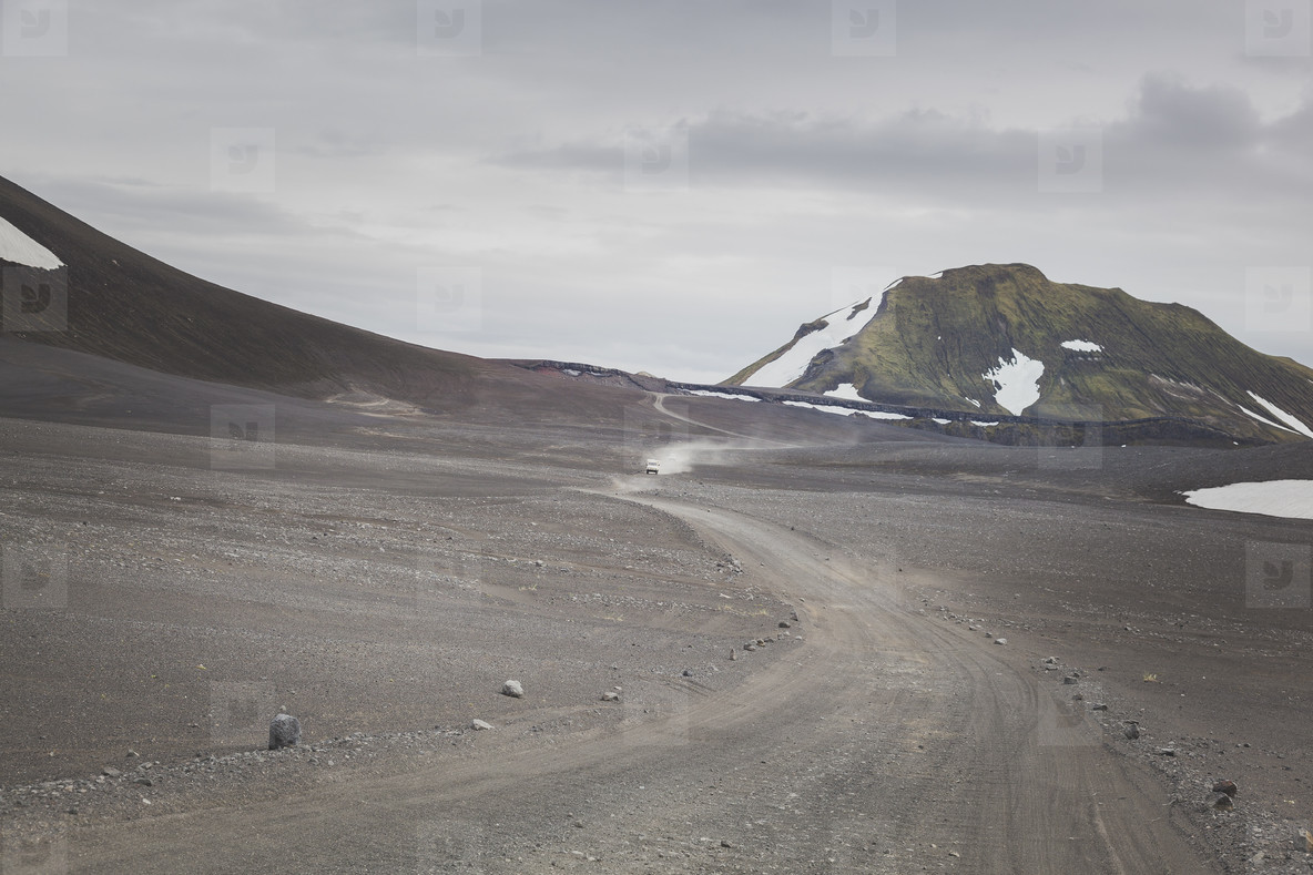 Gravel road in Iceland  05