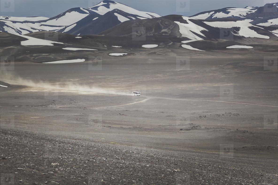 Gravel road in Iceland  07