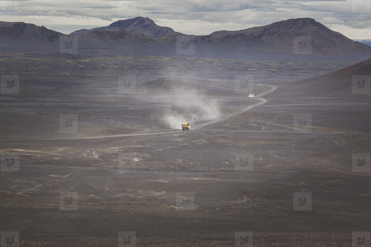 Gravel road in Iceland  11