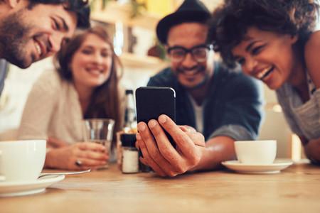 Sharing old memories on smart phone
