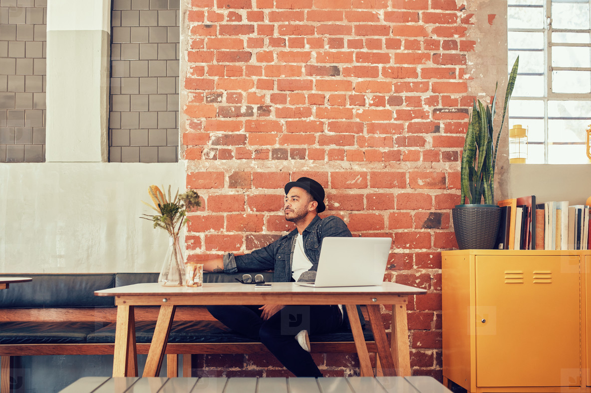 Man waiting for someone at coffee shop