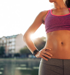Fitness model slim torso