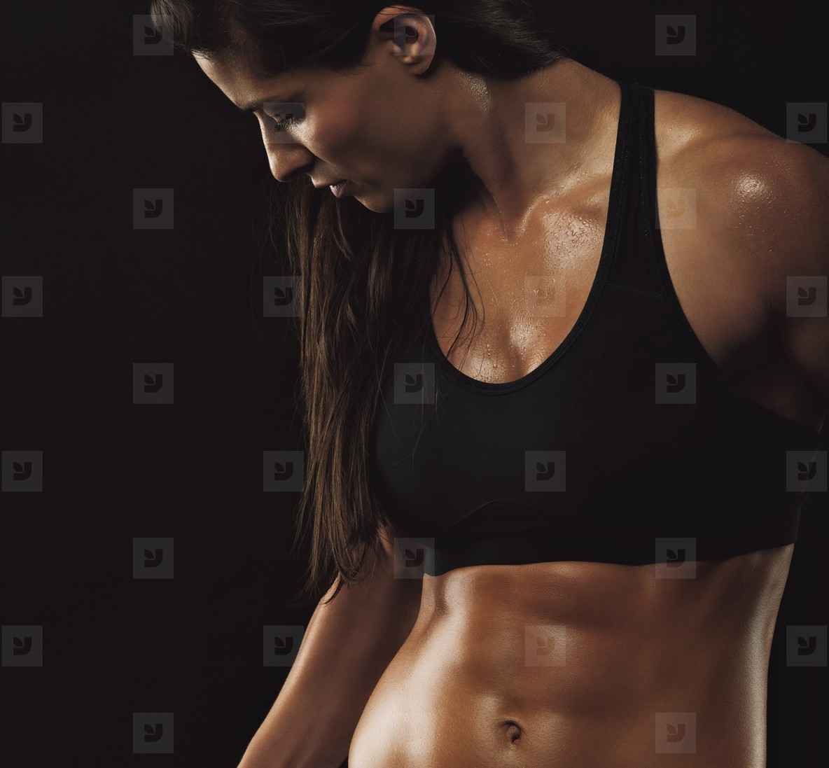 Photos - Fitness woman with perfect muscular body - YouWorkForThem