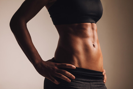 Perfect female body   abdominal muscles