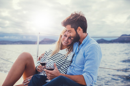 Young couple on a romantic vacation