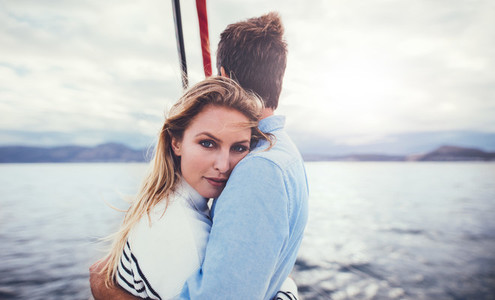 Loving young couple on a romantic holiday