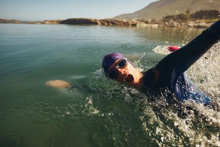 Triathlon long distance swimming