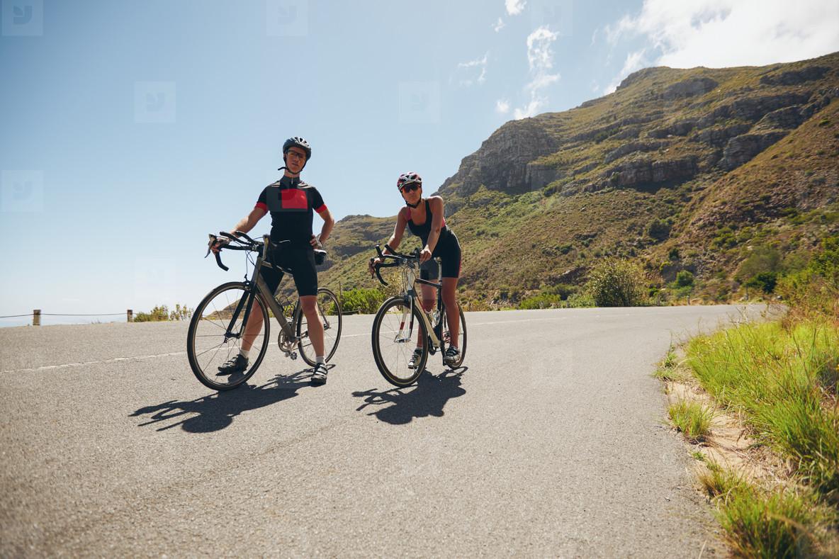 Cyclist training for triathlon competition