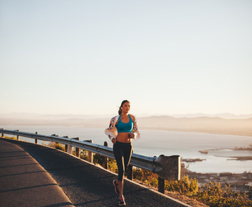 Young woman her morning run