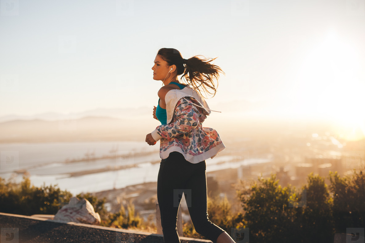 Fitness woman on morning run
