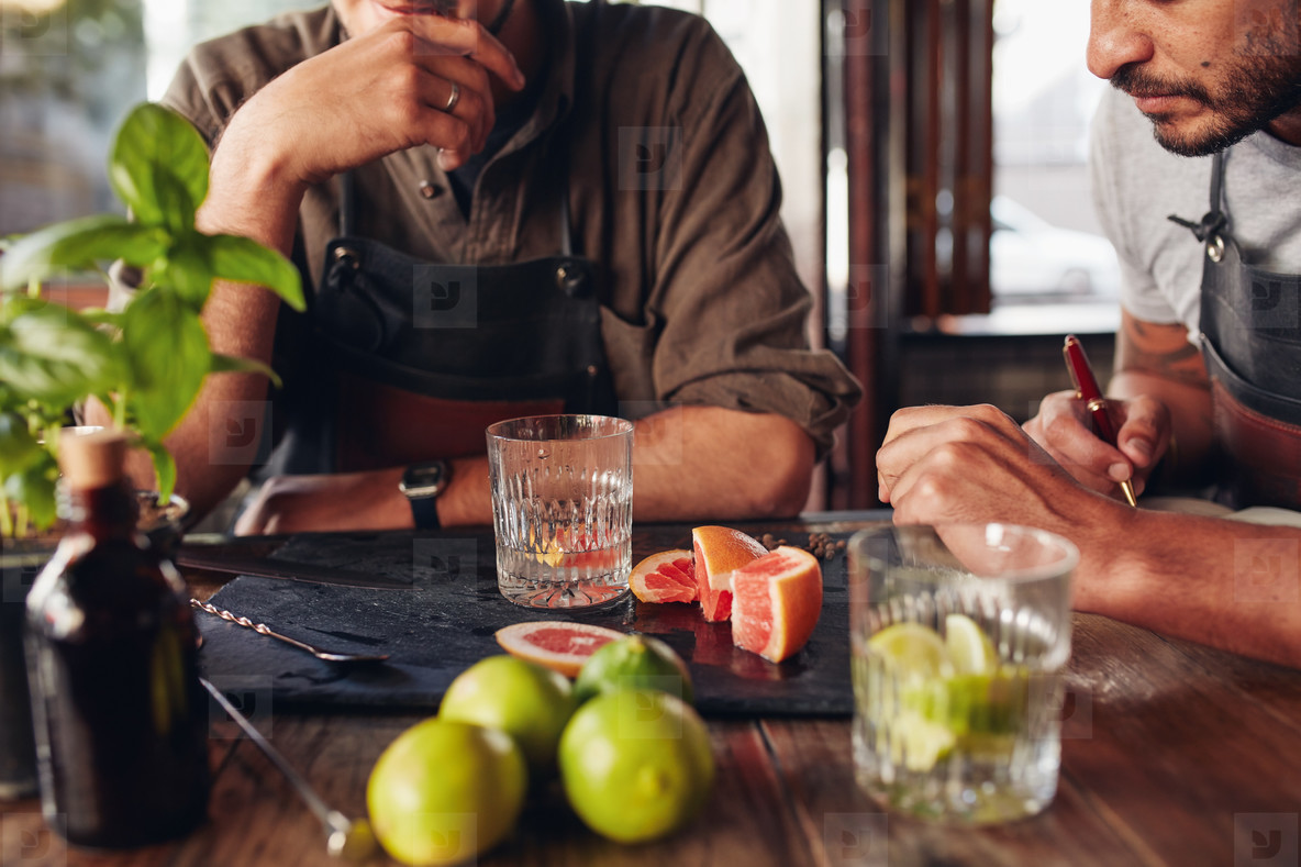 Bartenders experimenting with creating new cocktails