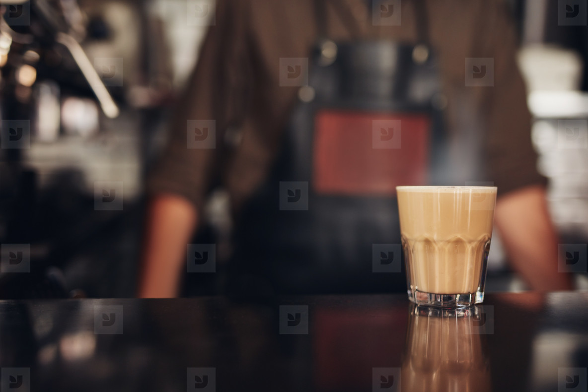 Cup of coffee on counter