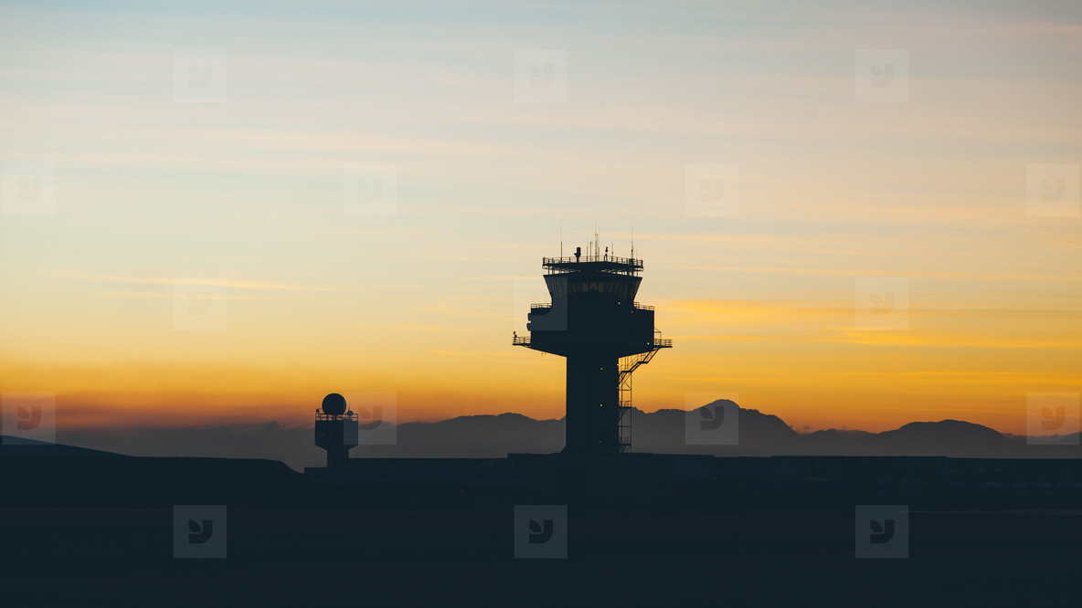 Airport traffic controller tower