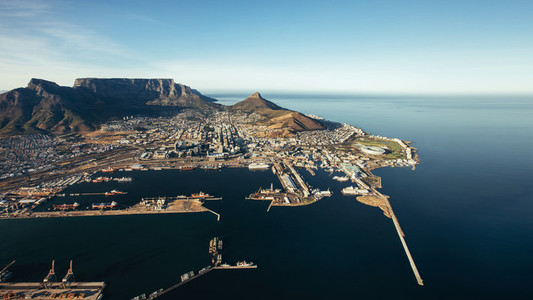 Victoria  Alfred waterfront and Cape Town harbour
