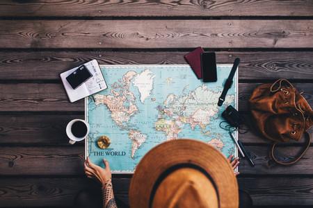 Tourist Planning tour using world map