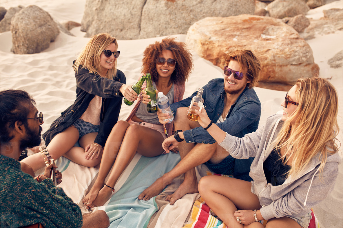 Image result for Friends drinking on the beach