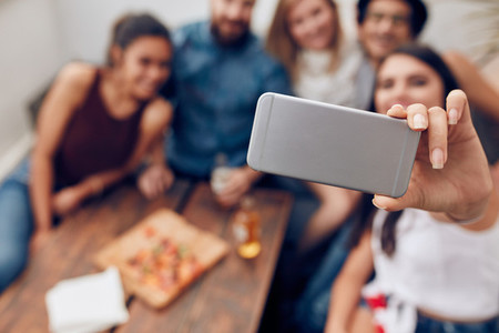 Capturing party moments in a selfie